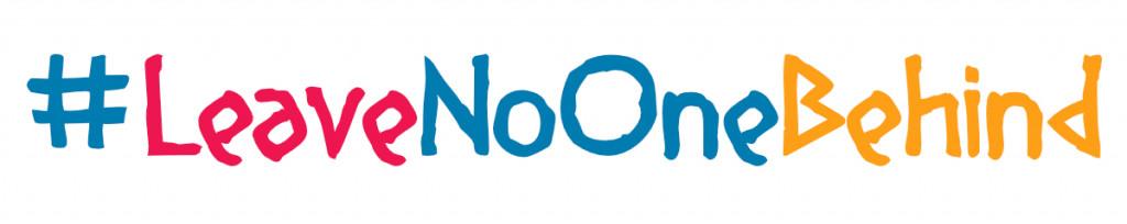 Schriftzug #LeaveNoOneBehind